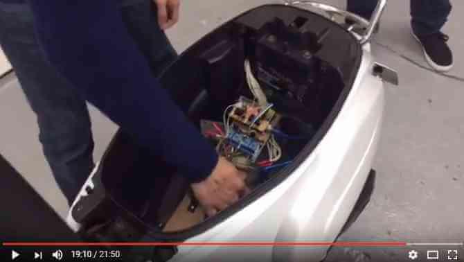 騎士大平台機車置物箱防盜安全警示器